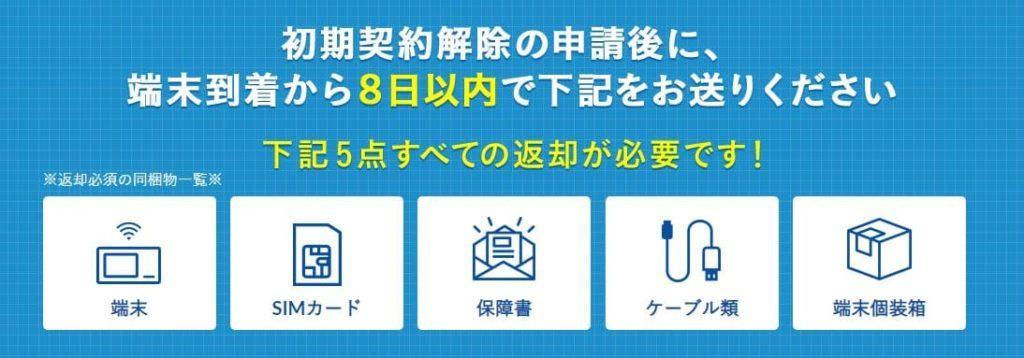 Broad WiMAXの初期契約解除